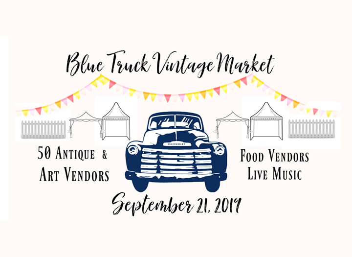 Blue Truck Vintage Market 2019 Photo